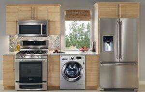 نمونه هوشمند سازی آشپزخانه ، این نوع هوشمند سازی قابلیت روشن شدن اجاق گاز از راه دور بالا و پایین آوردن پرده و همچنین باز و بسته کردن درب یخچال و ... را دارد