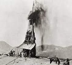 فوران اولین چاه نفت در ایران سال 1287